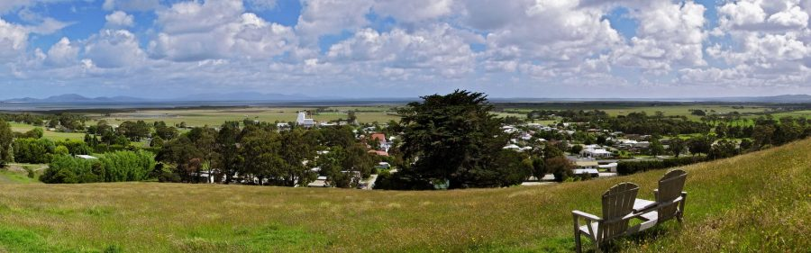 overlooking the township of Toora-panorama